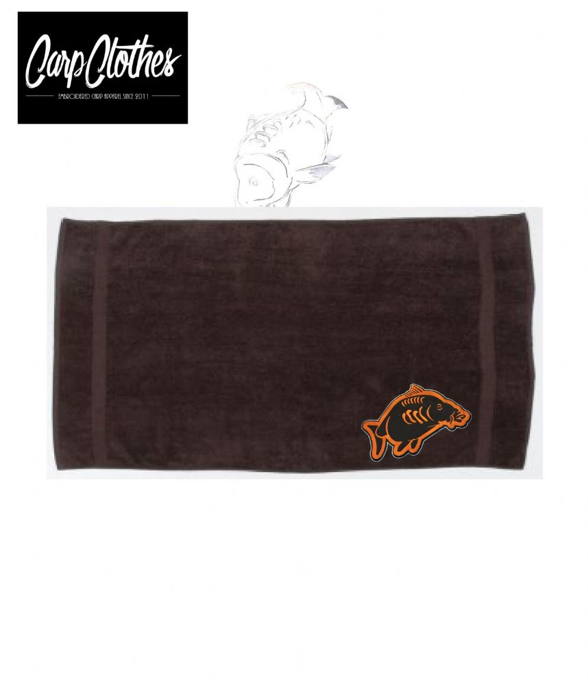 013 EMBROIDERED BROWN HAND TOWEL XL